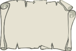 old, scroll, paper, outline, map, open, parchment