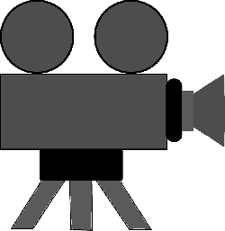 old, video, icon, outline, symbol, drawing, silhouette