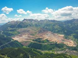ore mountain, iron ore, mountain, view, panorama