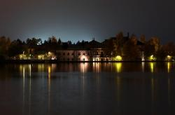 oulu, finland, buildings, river, water, reflections