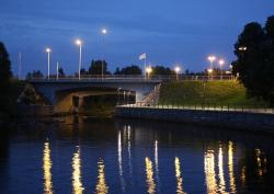 oulu, finland, city, cities, urban, bridge, river