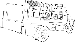 outline, car, tools, transportation, truck, lorry