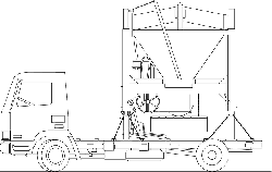 outline, construction, truck, vehicle, mixer, equipment