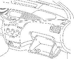 outline, drawing, car, cartoon, inside, board, dash