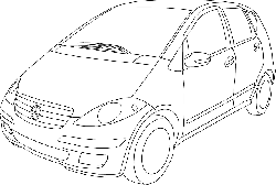 outline, drawing, car, compact, out, line, class, cars