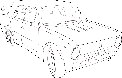 outline, euro, drawing, sketch, car, golf, cartoon, out