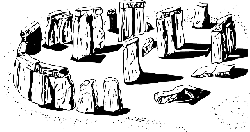 outline, historic, stone, temple, megalith, monuments