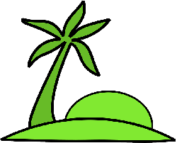 outline, islands, beach, plants, island, palm, sun