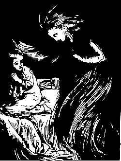 outline, people, kid, child, bed, angel, night