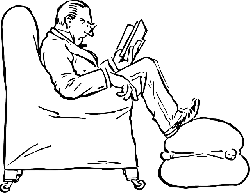 outline, people, man, reading, book, automatic, staring