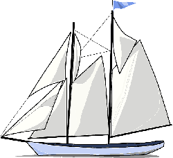 outline, sailing, cartoon, transportation, free