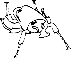 outline, wings, art, insect, beetle, legs, horned