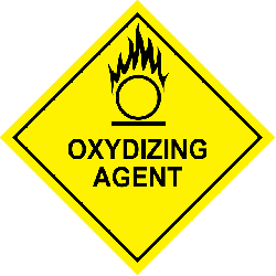 oxidizing agent, inflammable, fire, caution, danger