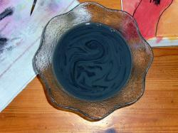 paint, painting, water pot, water, marbled, black, grey