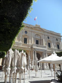 palace, parasols, city, valletta, malta, historically