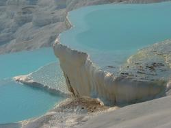 pamukkale, turquoise, lime sinter terrace, calcium
