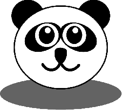 panda, bear, face, head, happy, smile, animal