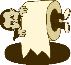 paper, man, cartoon, toilet, roll, comic, characters