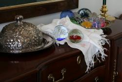 paperweights, glass, colorful
