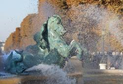 paris, france, fountain, water, fall, autumn, sculpture