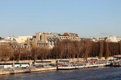 paris, france, river, water, canal, boats, shoreline