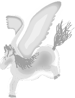 pegasus, horse, flying, mythical creature