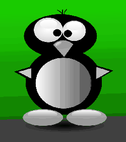 penguin, digital, cartoon, shapes, bird, crazy