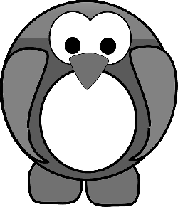 penguin, tux, bird, animal, cute