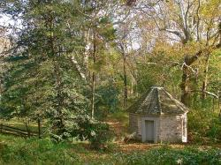 pennsylvania, springhouse, stone, building, fall
