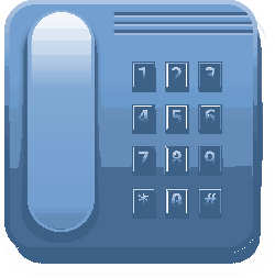 phone, set, blue, office, desk, telephone, electronics