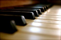 piano, keys, music, instrument, old, sound, black