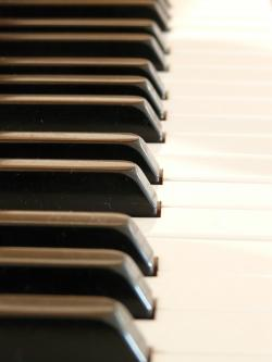 piano, piano keys, white, black, music, sound