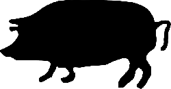 pig, animal, farm, agriculture, silhouette