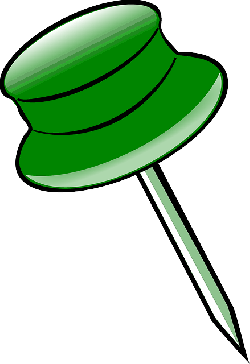 pin, green, office, notice, clerical, tack