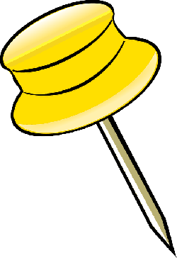 pin, yellow, office, notice, clerical, tack