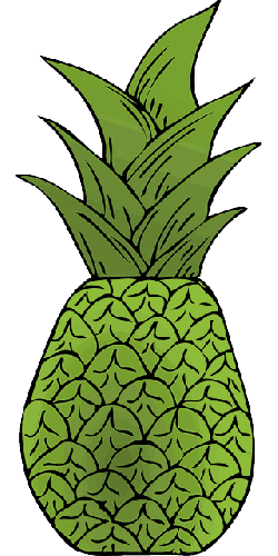 pineapple, exotic, fruit, plant, vegetation