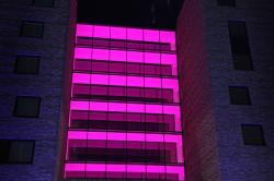 pink night, pink, night, darkness, lighting, skyscraper