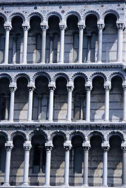 pisa, leaning tower, detail, columnar, italy, tuscany