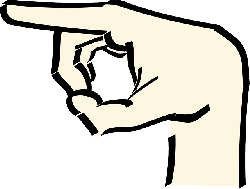 pointer, point, icon, left, hand, cartoon, direction