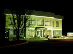 poland, night, evening, building, green, outside