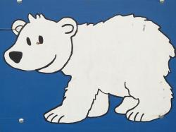 polar bear, bear, comic, fig, image, paint