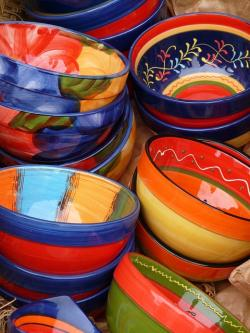 pottery, ceramic, art, colorful, color, painted