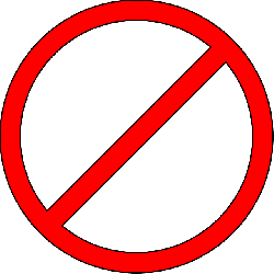 prohibited, don't, do not, ban, forbidden, no