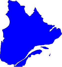 quebec, province east-central canada, canada, map