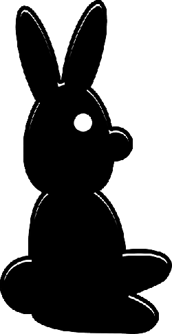 rabbit, bunny, easter, black, silhouette