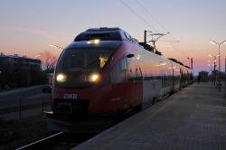 railway, vienna, dawn, stop, morgenrot, morning light