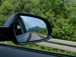 rear mirror, mirrors, auto, vehicle, road, highway