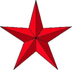 red, black, icon, blue, small, outline, symbol, star