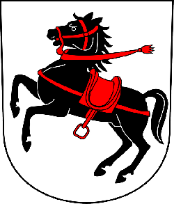 red, black, symbol, white, horse, coat, arms