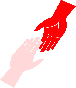 red, blue, hand, open, out, help, finger, hands